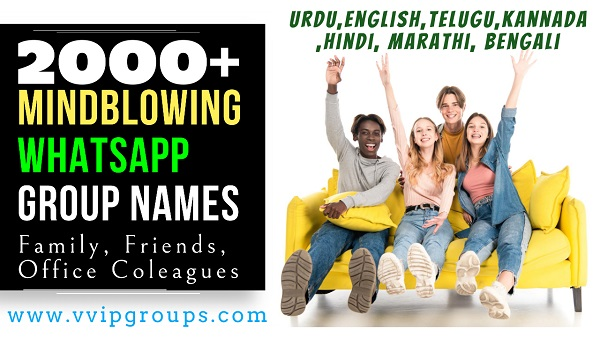 Whatsapp Group Names for Friends