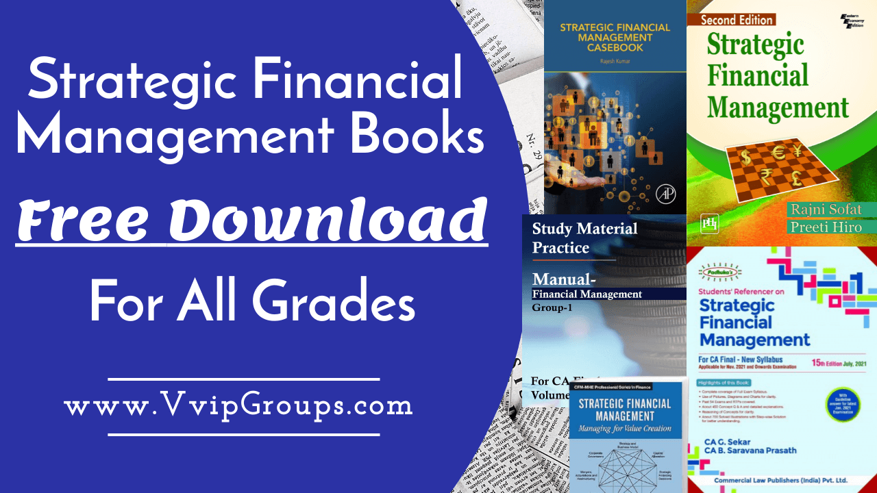 Strategic Financial Management Book Free Download in PDF for MBA, CA, FCA