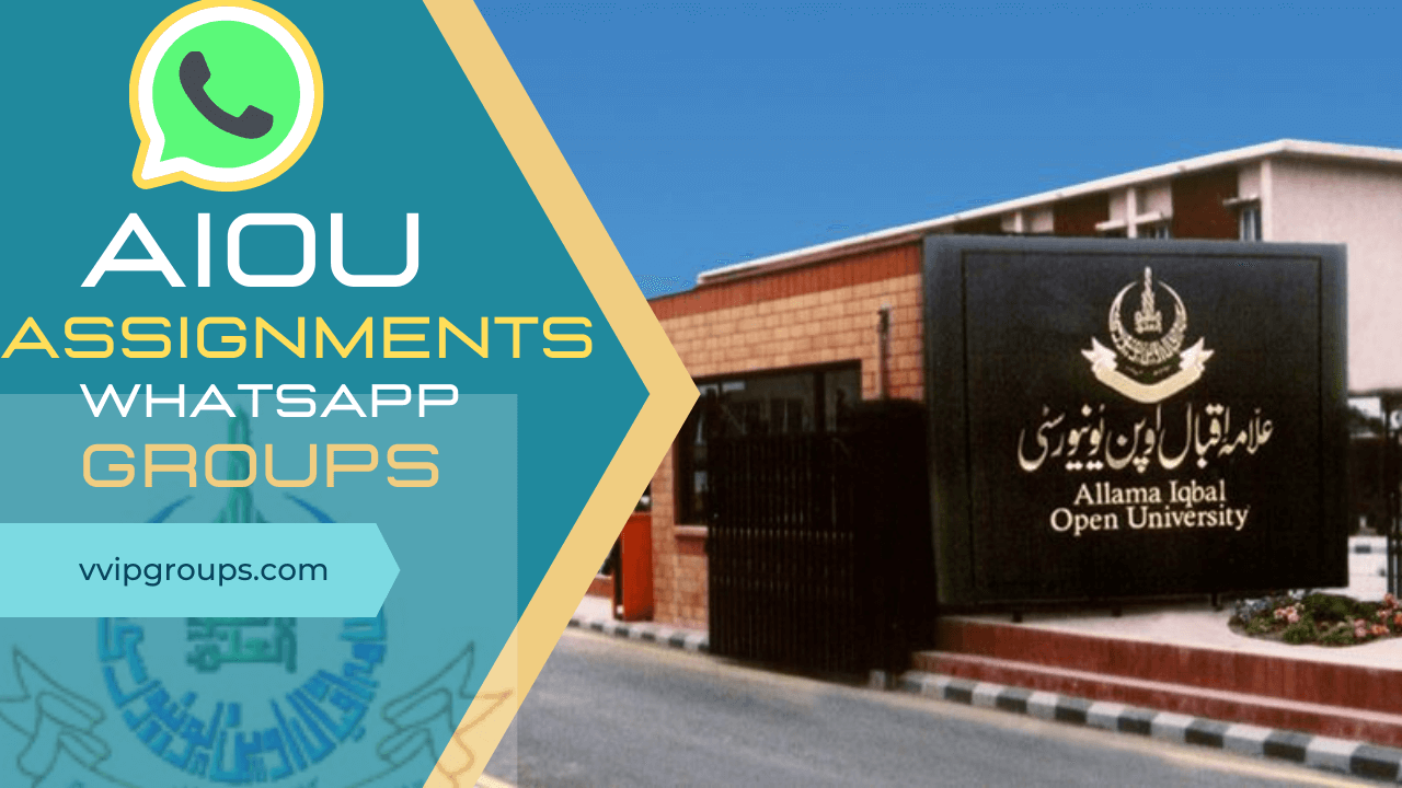 aiou solved assignments whatsapp groups