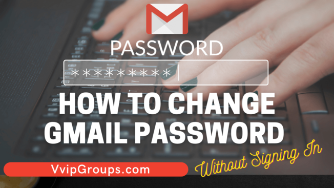 how to change gmail password without signing in
